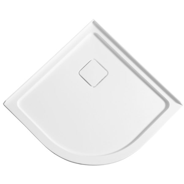 ANZZI Eternity Series 38 In. X 38 In. Double Threshold Shower Base In White
