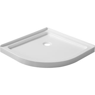 ANZZI Pillar Series 36 in. x 36 in. Double Threshold Shower Base in White