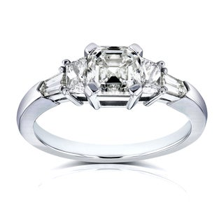 Link to Annello by Kobelli Certified Platinum 1 3/4ct TDW Mixed Fancy Cut 5 Stone Diamond Ring (H-I, SI1-SI2) Similar Items in Wedding Rings