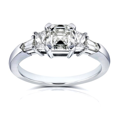 Annello by Kobelli Certified Platinum 1 3/4ct TDW Mixed Fancy Cut 5 Stone Diamond Ring (H-I, SI1-SI2)