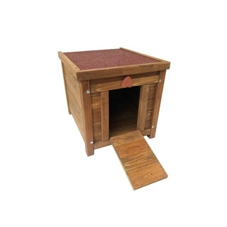 "Lovupet 17"" Wooden Rabbit Hutch Small Animal House Cage Chicken Coop"