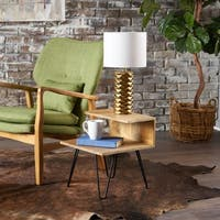 Glasgow Solid Mango Wood End Table by Christopher Knight Home