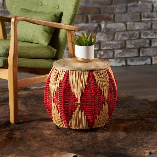 Shop Maceo Solid Mango Wood Round End Table By Christopher