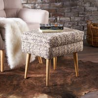 Loucinda Fabric Ottoman Stool by Christopher Knight Home