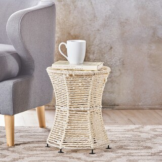 Thackeray Fabric Round End Table by Christopher Knight Home