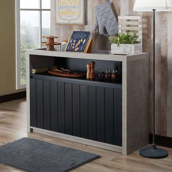 Furniture Of America Lamont Industrial Cement Like Multi Storage Dining  Buffet