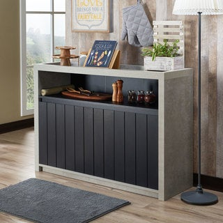 Furniture of America Lamont Industrial Cement-like Multi-storage Dining Buffet