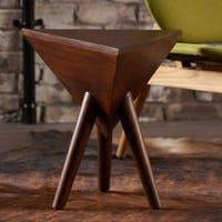 Lavro Mango Wood Triangle End Table by Christopher Knight Home