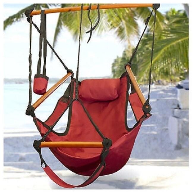 Discontinue Deluxe Outdoor Patio Zero Gravity Air Hammock Sky Swing Rope Chair Overstock 16808325