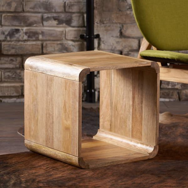 Kellan Mango Wood Square End Table By Christopher Knight Home   15.75 X  15.75 X 15.75