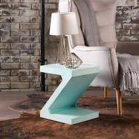 Annette Mango Wood Z-Shaped End Table by Christopher Knight Home