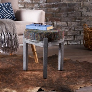 Dashiell Round Fabric Ottoman Stool by Christopher Knight Home