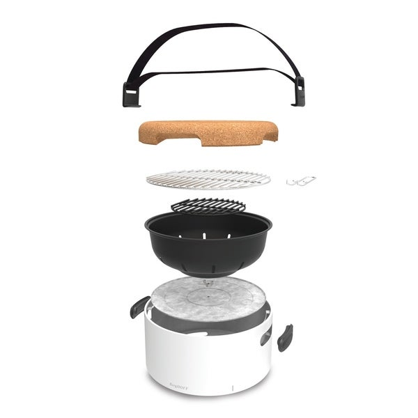 """Tabletop BBQ - White, 13.75 x 8.75"""". Opens flyout."""
