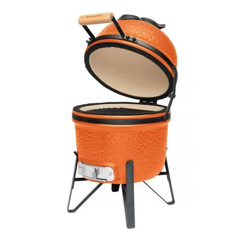 """Ceramic BBQ Bright Orange 13"""""""