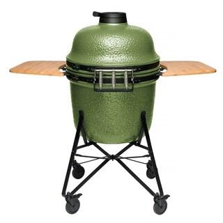 "Ceramic BBQ Olive Green 21"""