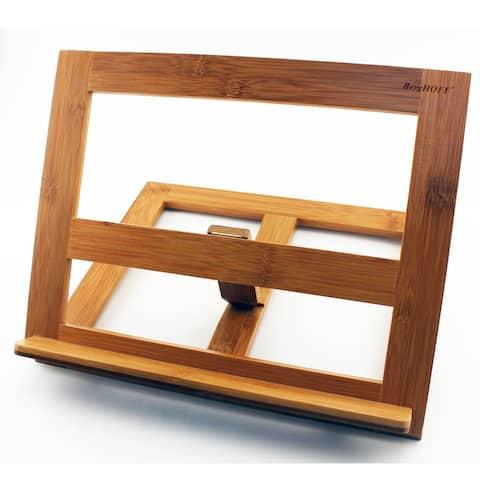 Bamboo Cookbook & Tablet Holder