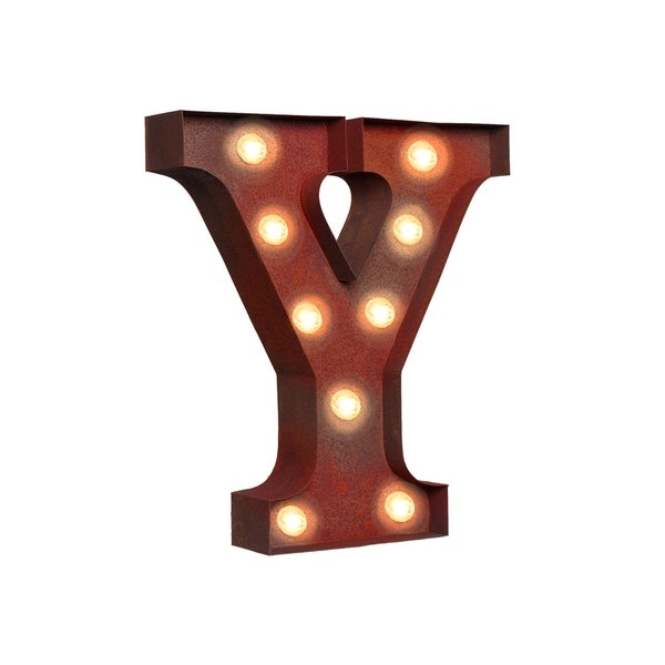 shop vintage retro lights signs letter y free shipping today
