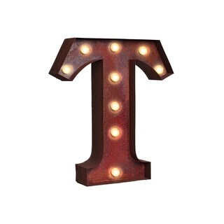 "VINTAGE RETRO LIGHTS & SIGNS Letter ""T"""