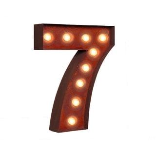 """VINTAGE RETRO LIGHTS & SIGNS Number """"7"""""""