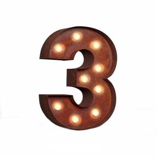 """VINTAGE RETRO LIGHTS & SIGNS Number """"3"""""""