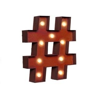 """VINTAGE RETRO LIGHTS & SIGNS - """"number"""" sign"""