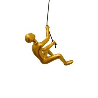 Climbing man WALL ART 3x3x6 GOLD