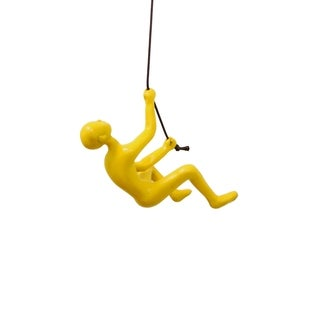 Climbing man WALL ART 3x3x6 YELLOW