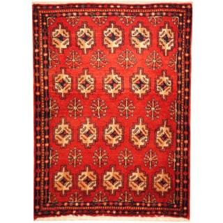 Herat Oriental Hand-knotted Turkoman Wool Area Rug (2'3 x 3'2)