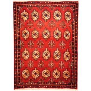 Handmade Herat Oriental Turkoman Wool Area Rug (Iran) - 2'3 x 3'2