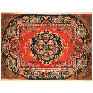 Herat Oriental Hand-knotted Kashan Wool Area Rug (2'4 x 3'2)