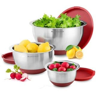 Belmint 3-Piece Stainless Steel Mixing Bowls with Lids & Non-Skid Rubber Grip Bottoms|https://ak1.ostkcdn.com/images/products/16814592/P23117584.jpg?impolicy=medium