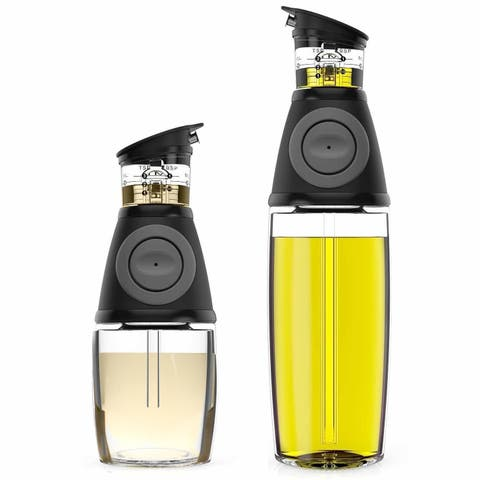 Oil & Vinegar Dispenser Set with Drip-Free Spouts