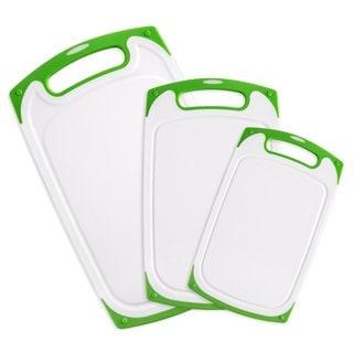 Belmint 3-Piece Dishwasher-Safe Plastic Cutting Board Set