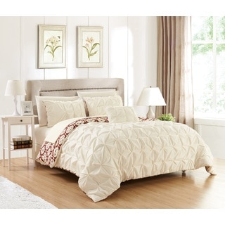 Chic Home Jana 4-piece Cream Reversible Duvet Cover Set
