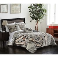Chic Home Bellatrix 8-piece Beige Complete Bed in a Bag Reversible Quilt Cover Set with Decorative Pillows and Shams