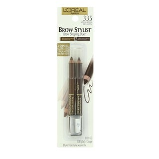 L'Oreal Brow Stylist Duet Custom Brow Shaping Pencils 335 Medium Brown
