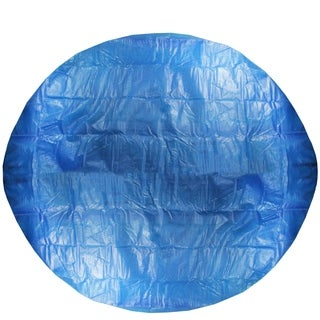 12' Blue Round Floating Solar Prompt Set Swimming Pool Cover