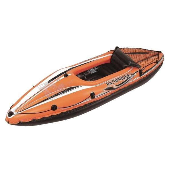 "108"" Orange and Black ""Pathfinder I"" Inflatable Single Person Kayak"