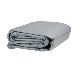 14' Rectangular Gray Swimming Pool Ground Cloth - Silver