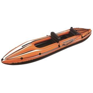 "138"" Pathfinder I Inflatable Two Person Kayak - Orange/Black|https://ak1.ostkcdn.com/images/products/16815524/P23118452.jpg?impolicy=medium"