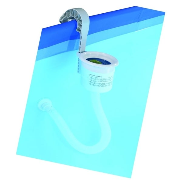 "14.25"" Adjustable Wall Mounted Pool Surface Skimmer with Frame Hanger - Silver"