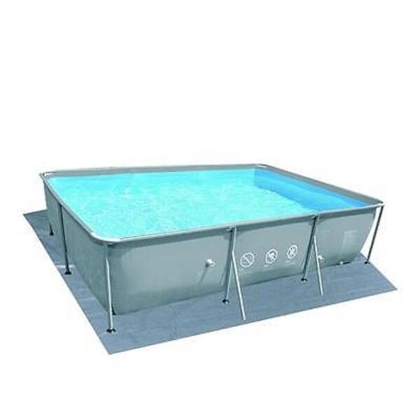 19.4' Rectangular Gray Swimming Pool Ground Cloth - Silver