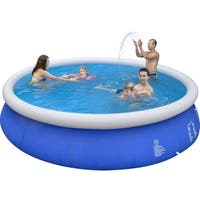 """15' x 36"""" Blue and White Inflatable Above Ground Prompt Swimming Pool Set"""