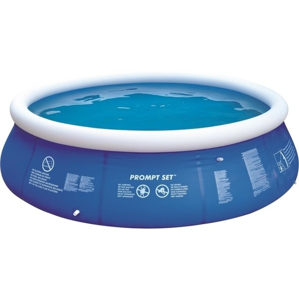 Prompt Set 144-inch Blue and White Inflatable Above Ground Swimming Pool