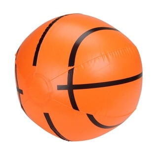 """16"""" Orange and Black 6-Panel Inflatable Beach Basketball Swimming Pool Toy"""
