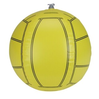 """16"""" Yellow and Black 6-Panel Inflatable Beach Volleyball Swimming Pool Toy"""