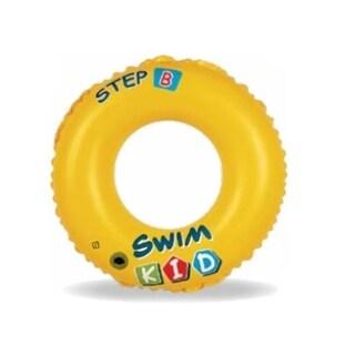 "20"" Yellow Swim Kid ""Step B"" Inflatable Swimming Pool Ring Inner Tube for Kids 3-6 Years"