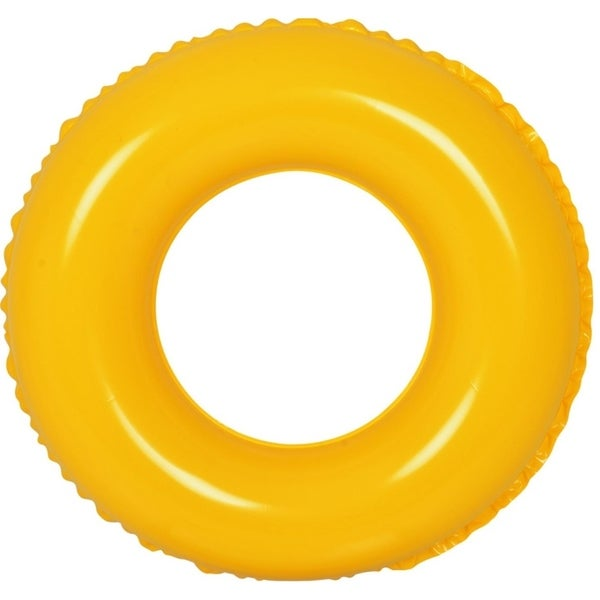 "24"" Classic Round Yellow Inflatable Swimming Pool Inner Tube Ring Float"