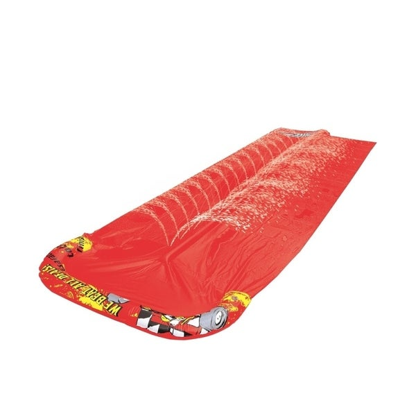 """200"""" """"We Beat All Deals!"""" Dual Ground Level Water Slide - Red"""
