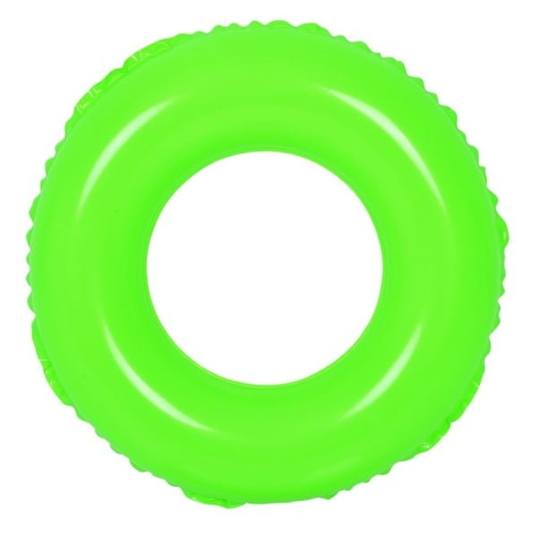 "24"" Classic Round Green Inflatable Swimming Pool Inner Tube Ring Float"
